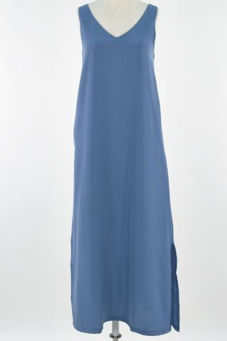 TWO WAY SLIT MIDI DRESS WITH REVERSIBLE MASK