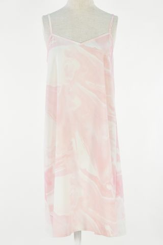 MARBLE SLIP DRESS & ROBE 2 PCS SET
