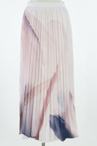 ABSTRACT ART PLEAT SKIRT
