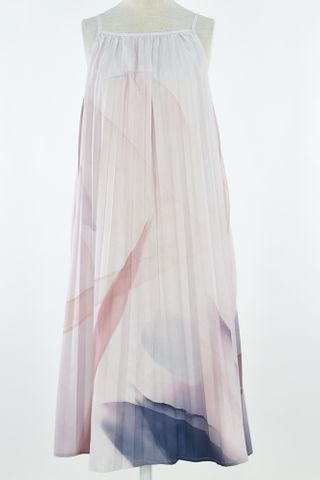 ABSTRACT ART PLEAT TENT DRESS