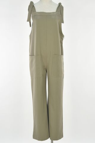 SHOULDER TIE POCKET JUMPSUIT