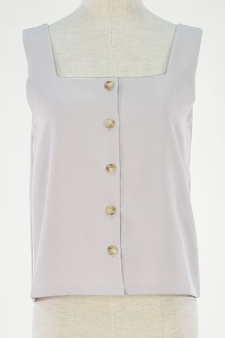 SQUARE NECKLINE BUTTON DOWN TOP