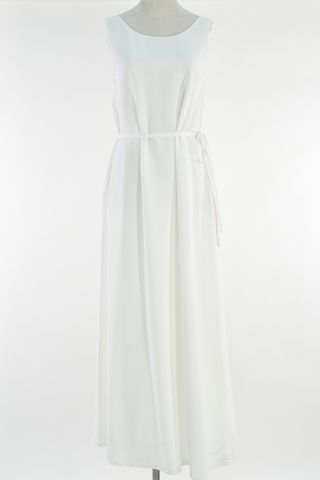 TWO WAY TRAPEZE MAXI DRESS WITH MASK